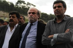 Kürkçü'nün Soma'daki incelemelerine HDP İzmir İl Eşbaşkanı Cavit Uğur ile BDP  İzmir İl Eşbaşkanı Yusuf Kaya da katıldı.