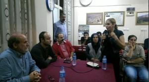 HDP milletvekili Kürkçü Yeşil Ğurs Derneği'nde konuşmasının ardından katılımcıların sorularını yanıtladı